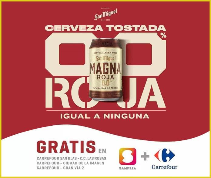 Samplia Cerveza 0 0 Magna Roja Gratis