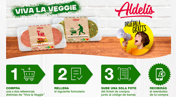 Prueba las hamburguesas vegetarianas de Aldelis gratis