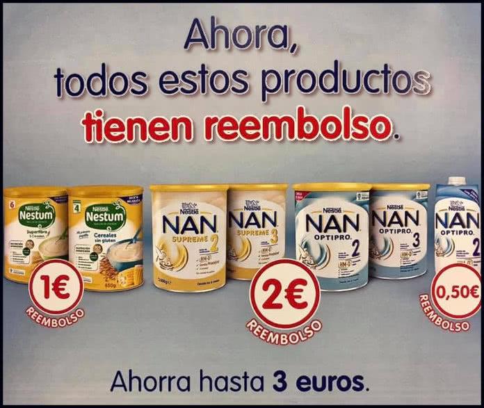 Reembolso de productos Nan Nestum