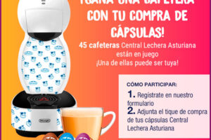 Central Lechera Asturiana sortea 45 cafeteras Delonghi Colors – Regalos y Muestras gratis