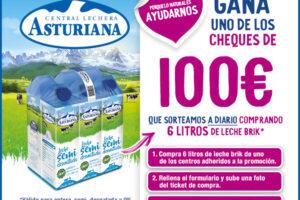 Leche Asturiana sortea 61 cheques de 100€ – Regalos y Muestras gratis
