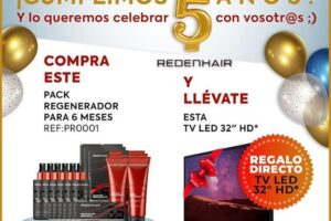 Redenhair regala una TV Led 32″ HD – Regalos y Muestras gratis