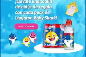 Agua Lanjarón regala una toalla de Baby Shark – Regalos y Muestras gratis