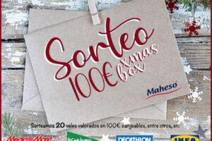 """MAHESO sortea 20 códigos """"Xmas Box"""" de 100€ – Regalos y Muestras gratis"""