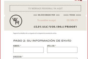 Etiqueta personalizada gratuita para botella – Regalos y Muestras gratis