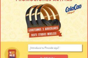 Cola Cao sortea 3 auriculares BEATS Studio 3 – Regalos y Muestras gratis