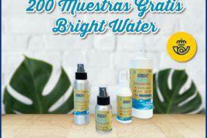 200 muestras gratis de desinfectante de manos Bright Water – Regalos y Muestras gratis