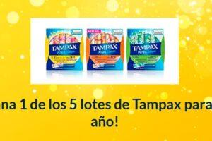 Próxima a ti sortea 5 lotes de Tampax para un año