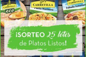 Carretilla sortea 25 lotes de Platos Listos – Regalos y Muestras gratis