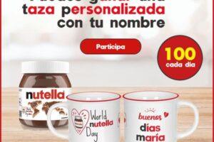 Nutella sortea 6.300 tazas personalizadas – Regalos y Muestras gratis