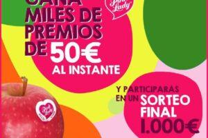 Pink Lady sortea 60 cheques de 50€ y 1 de 1000€ – Regalos y Muestras gratis