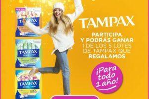 Próxima a ti sortea 5 lotes de Tampax para 1 año – Regalos y Muestras gratis