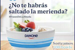 Danone sortea 100 bowls para desayuno y merienda – Regalos y Muestras gratis