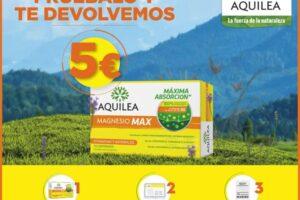 Reembolso de 5€ para Aquilea Magnesio Max – Regalos y Muestras gratis