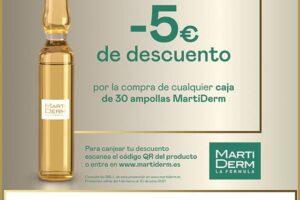 6.000 reembolsos de 5 € para ampollas MartiDerm – Regalos y Muestras gratis