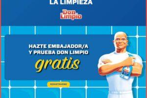 Don Limpio busca a 10.000 embajadores – Regalos y Muestras gratis