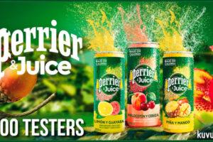 Kuvut busca 600 probadores para Perrier Juice – Regalos y Muestras gratis