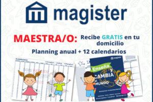 Magister regala planning anual +12 calendarios – Regalos y Muestras gratis